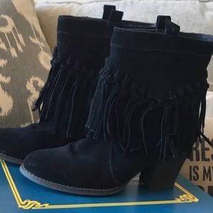Black Fringe Booties | Sbicca